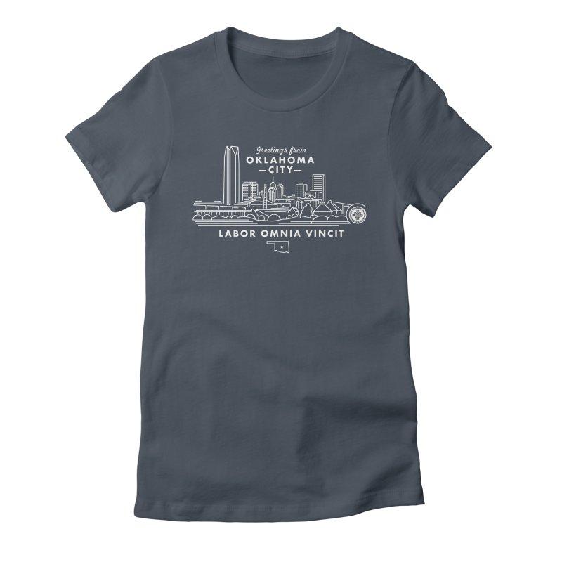 OKC Skyline Women's T-Shirt by WalkingStick Design's Artist Shop