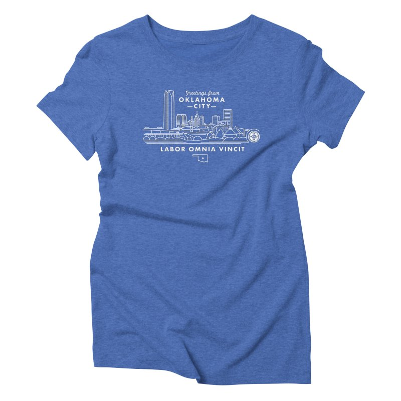OKC Skyline Women's Triblend T-Shirt by WalkingStick Design's Artist Shop