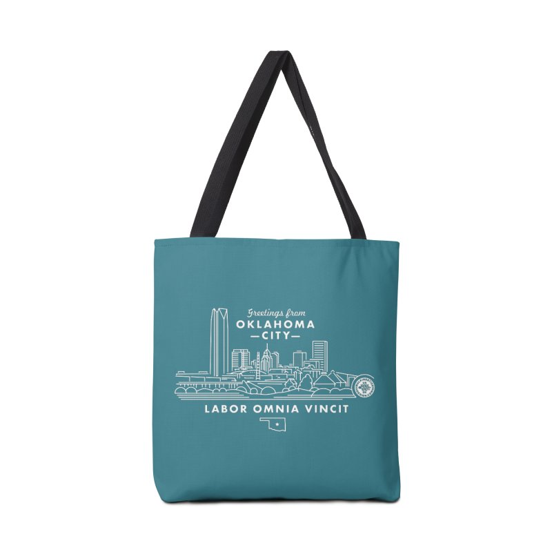 OKC Skyline Accessories Bag by WalkingStick Design's Artist Shop