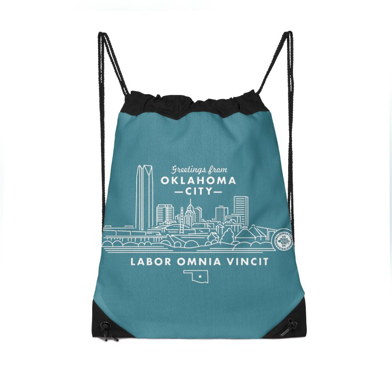 OKC Skyline Accessories Bag by WalkingStick Design's Artist Shop