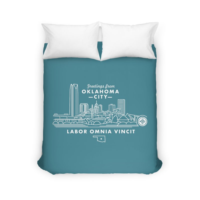 OKC Skyline Home Duvet by WalkingStick Design's Artist Shop