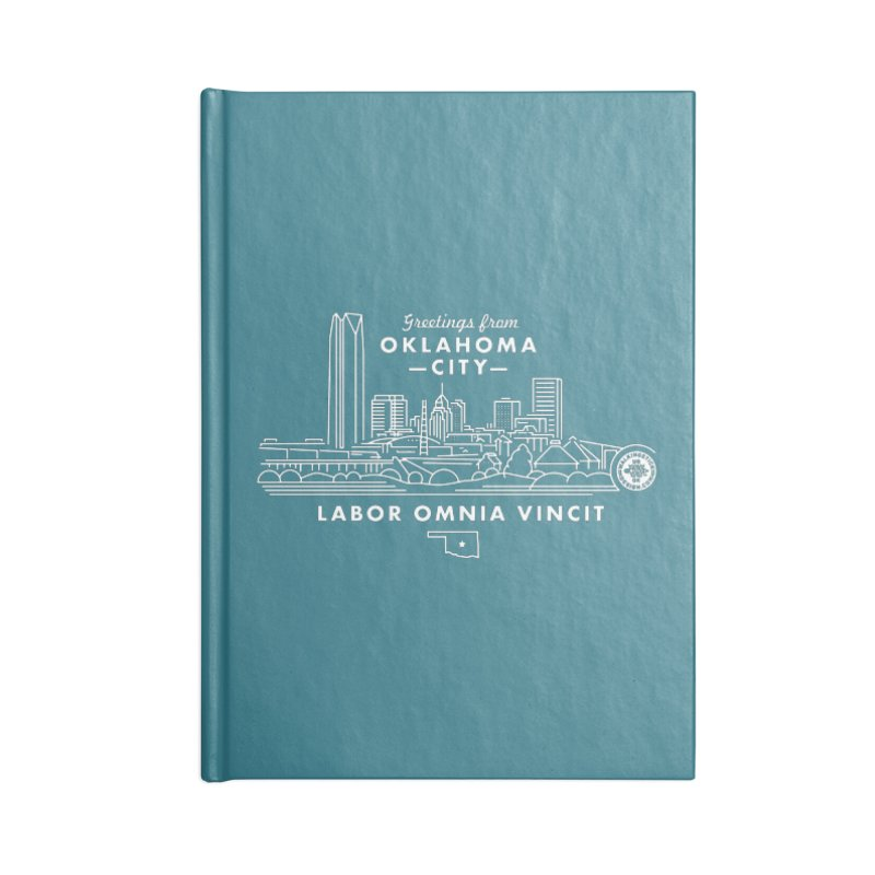 OKC Skyline Accessories Notebook by WalkingStick Design's Artist Shop