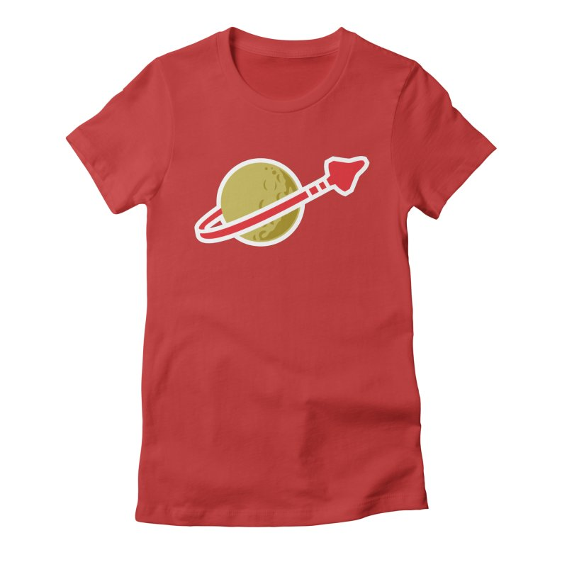 Lego Space 80s Women's Fitted T-Shirt by WalkingStick Design's Artist Shop
