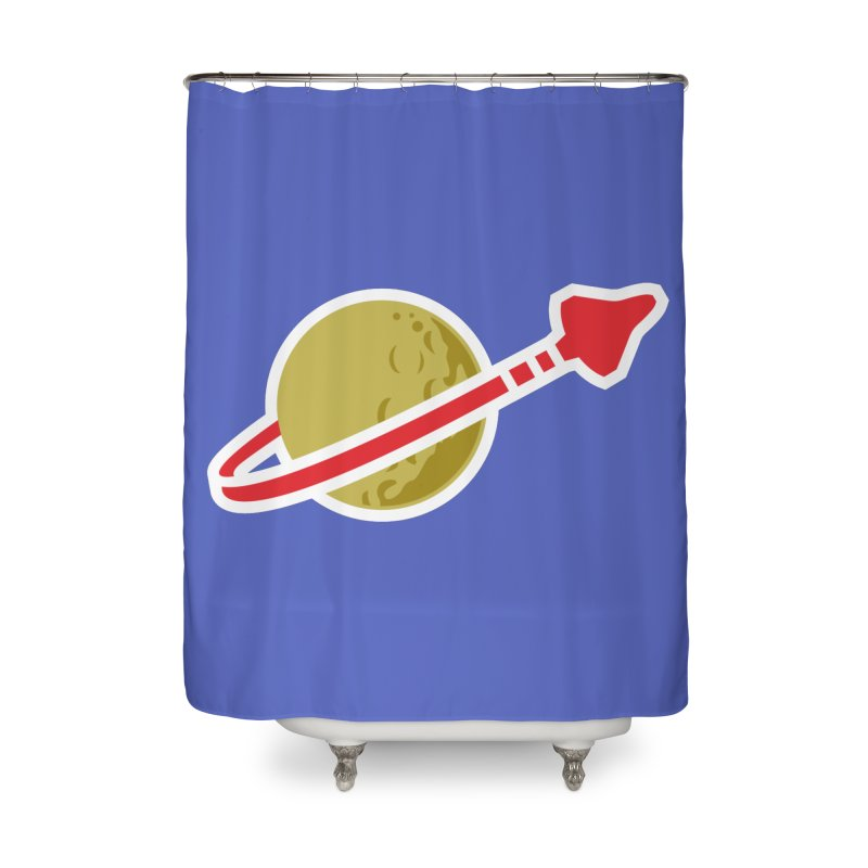 Lego Space 80s Home Shower Curtain by WalkingStick Design's Artist Shop