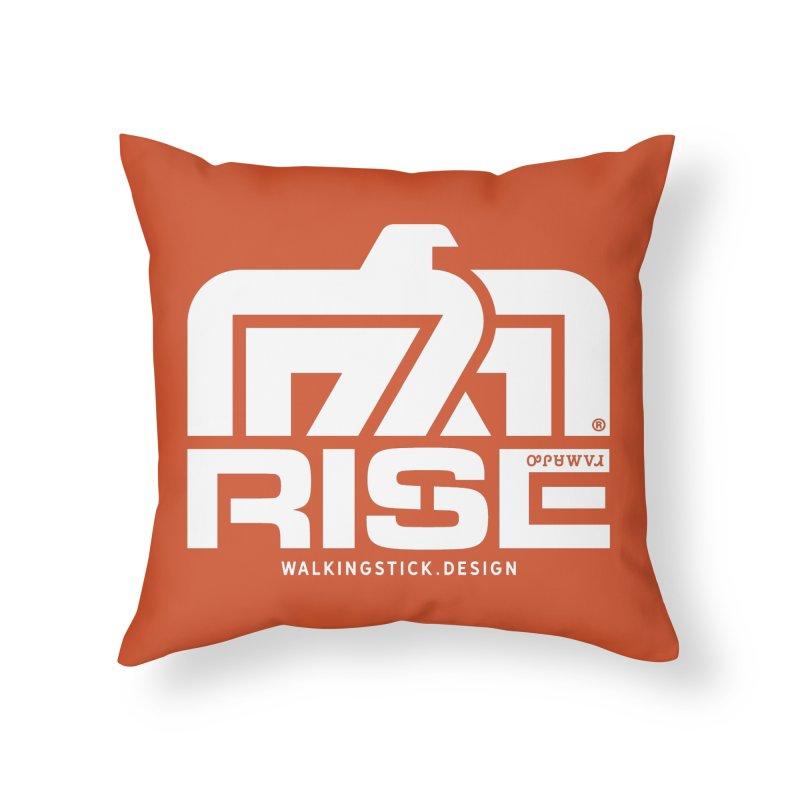 T-BIRD + WALKINGSTICK DESIGN CO. Home Throw Pillow by WalkingStick Design's Artist Shop