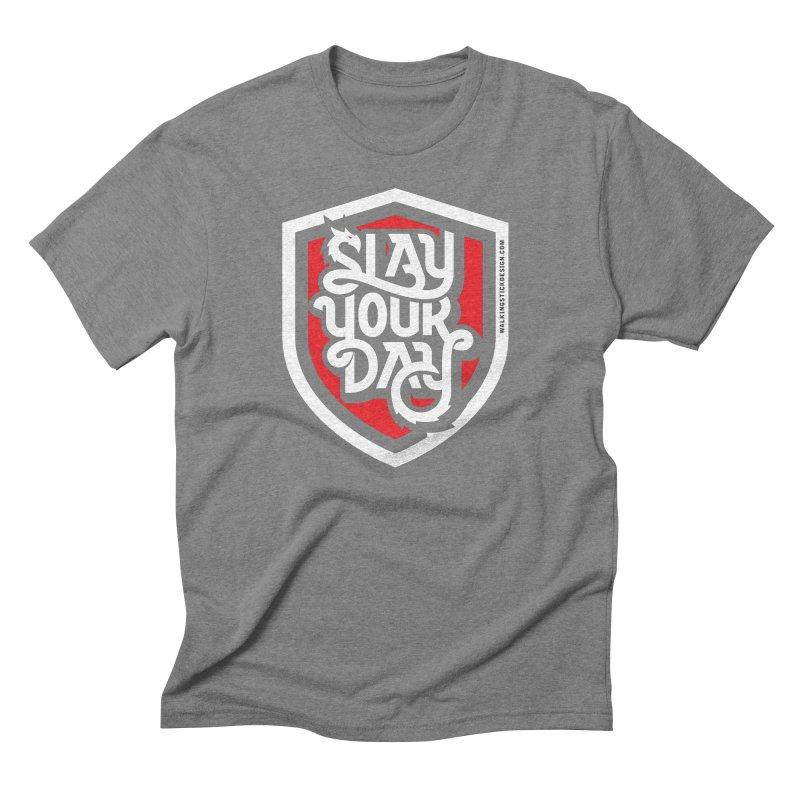 Slay Your Day Men's Triblend T-Shirt by WalkingStick Design's Artist Shop