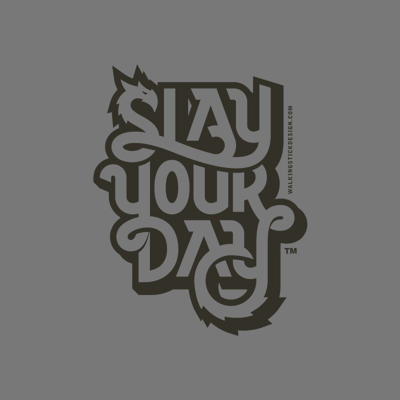 Slay Your Grey Accessories Sticker by WalkingStick Design's Artist Shop