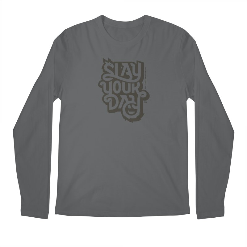 Slay Your Grey Men's Longsleeve T-Shirt by walkingstickdesign's Artist Shop