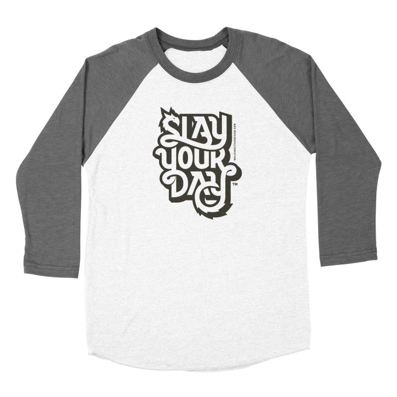 Slay Your Grey Men's Baseball Triblend Longsleeve T-Shirt by walkingstickdesign's Artist Shop