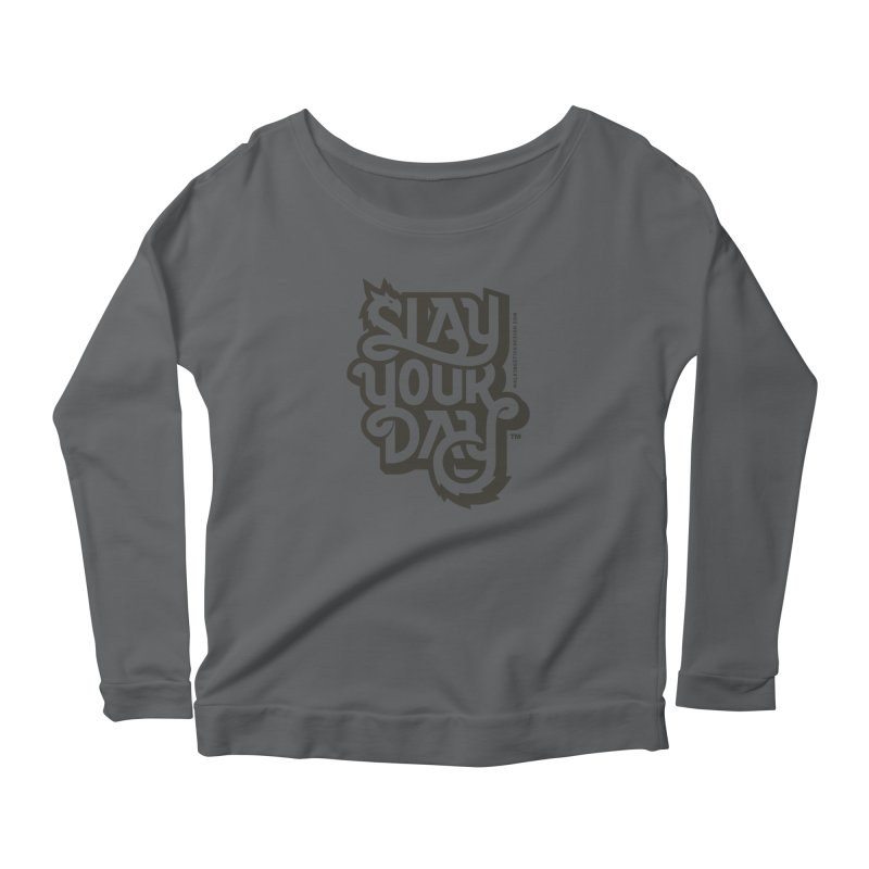 Slay Your Grey Women's Scoop Neck Longsleeve T-Shirt by WalkingStick Design's Artist Shop