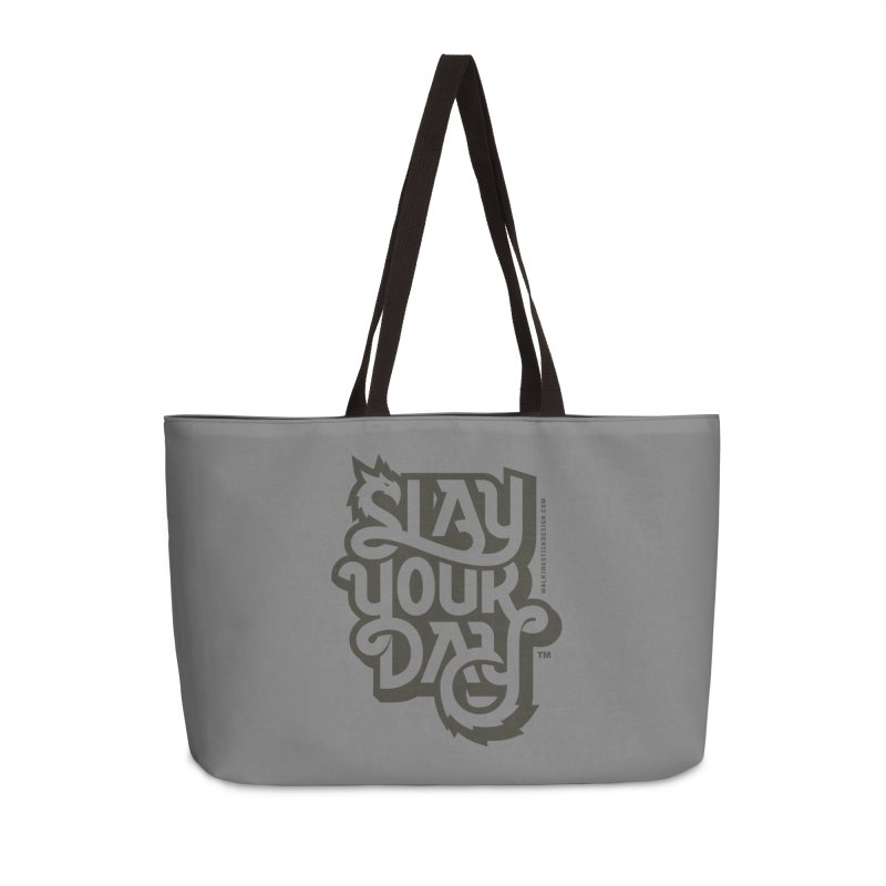 Slay Your Grey Accessories Weekender Bag Bag by WalkingStick Design's Artist Shop