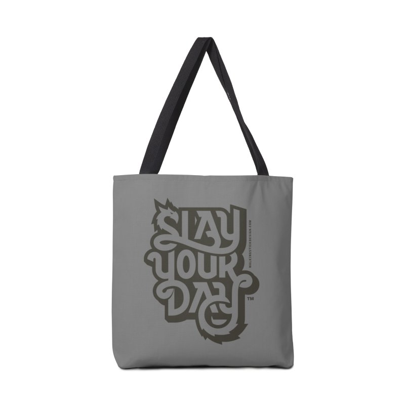 Slay Your Grey Accessories Bag by WalkingStick Design's Artist Shop