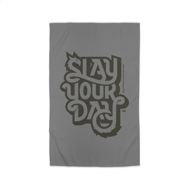 Slay Your Grey Home Rug by WalkingStick Design's Artist Shop