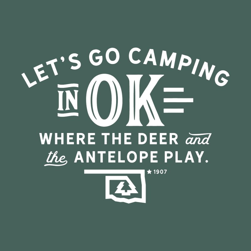 OK Camping Home Throw Pillow by WalkingStick Design's Artist Shop
