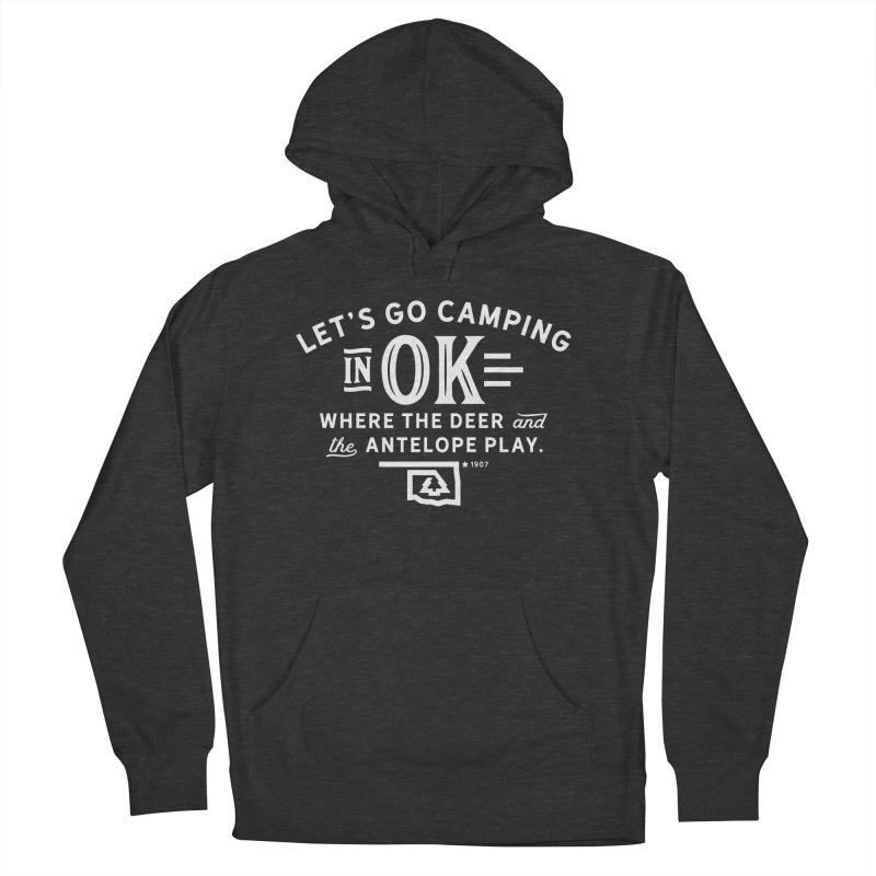 OK Camping Women's French Terry Pullover Hoody by WalkingStick Design's Artist Shop