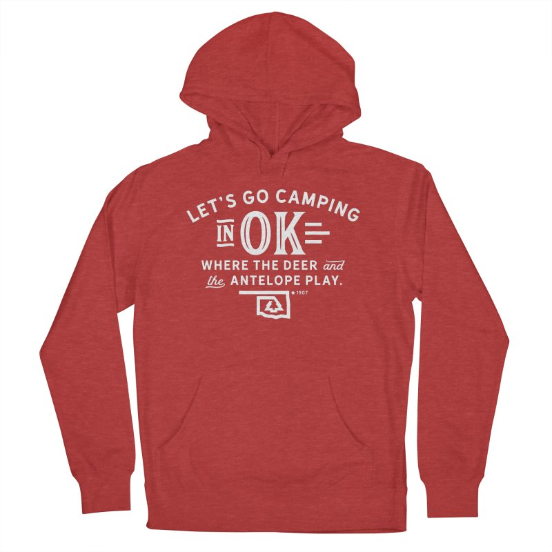OK Camping Men's French Terry Pullover Hoody by walkingstickdesign's Artist Shop