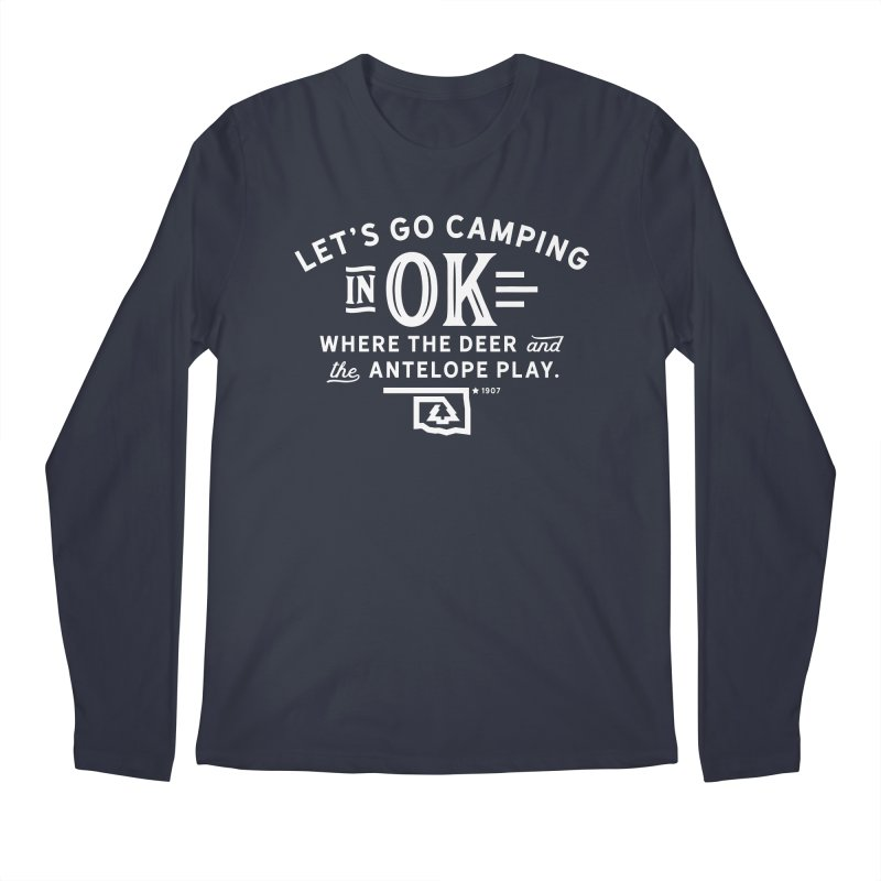OK Camping Men's Longsleeve T-Shirt by walkingstickdesign's Artist Shop