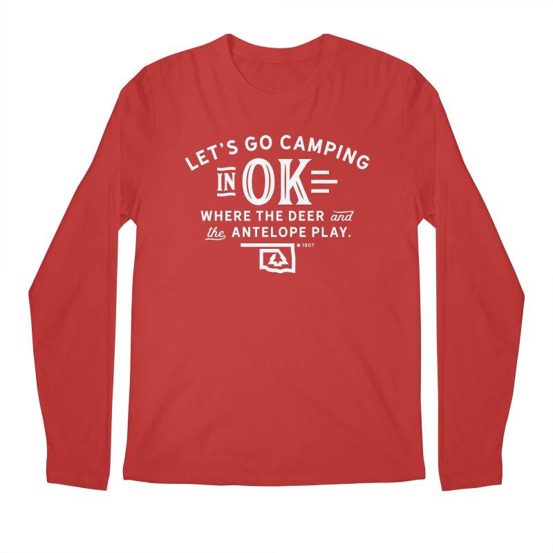 OK Camping Men's Regular Longsleeve T-Shirt by walkingstickdesign's Artist Shop