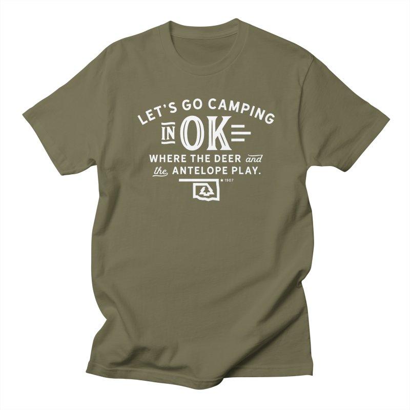 OK Camping Men's Regular T-Shirt by WalkingStick Design's Artist Shop