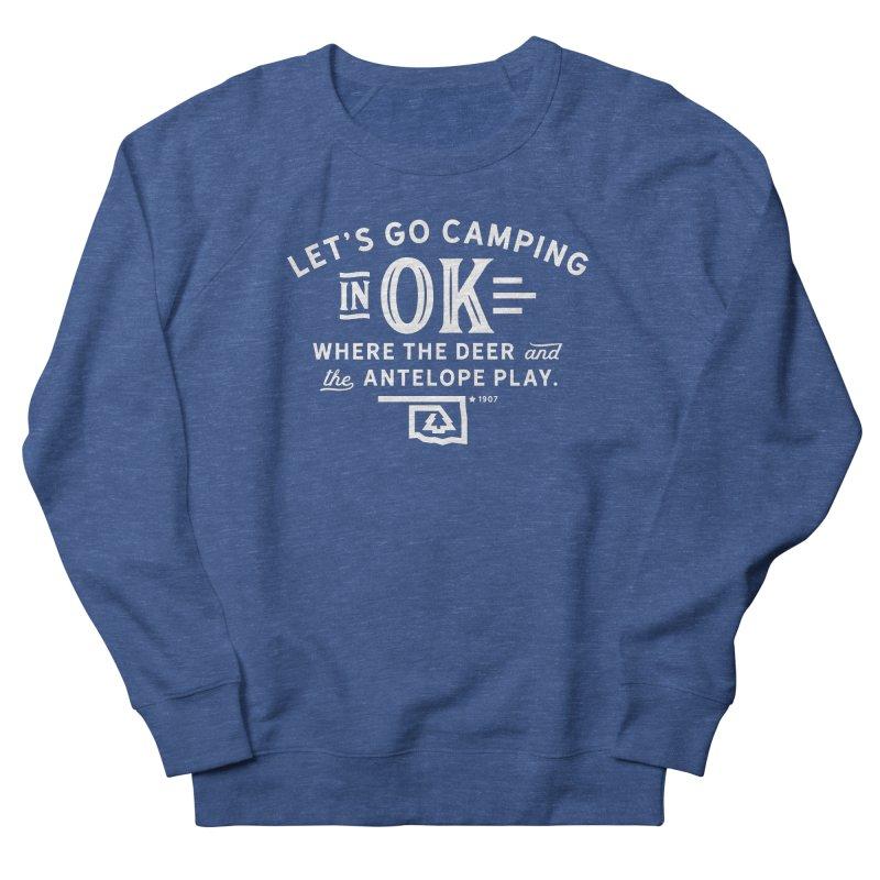 OK Camping Women's French Terry Sweatshirt by WalkingStick Design's Artist Shop