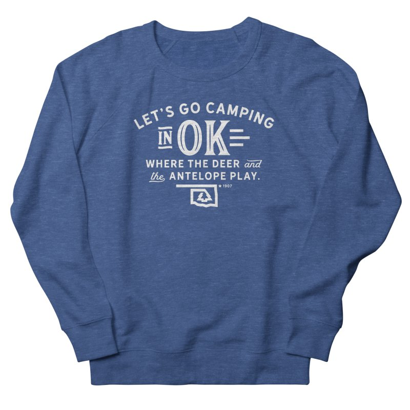 OK Camping Men's French Terry Sweatshirt by walkingstickdesign's Artist Shop