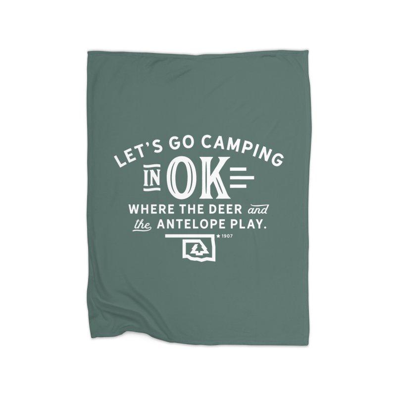 OK Camping Home Blanket by walkingstickdesign's Artist Shop