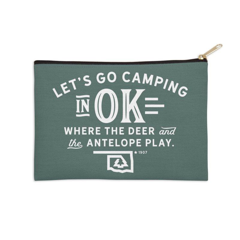 OK Camping Accessories Zip Pouch by WalkingStick Design's Artist Shop