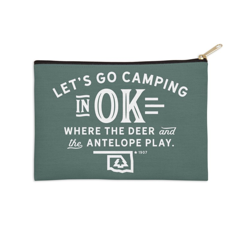 OK Camping Accessories Zip Pouch by walkingstickdesign's Artist Shop