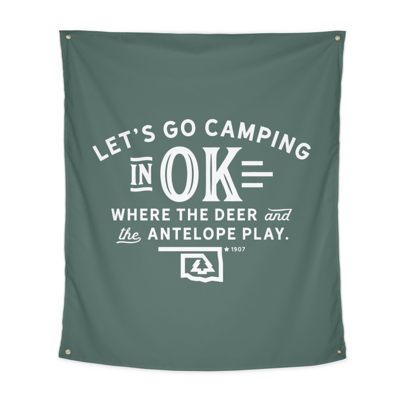 OK Camping Home Tapestry by WalkingStick Design's Artist Shop