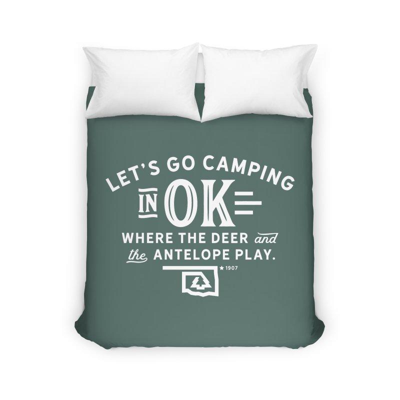 OK Camping Home Duvet by WalkingStick Design's Artist Shop