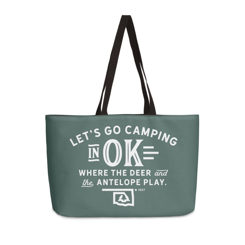 OK Camping Accessories Weekender Bag Bag by WalkingStick Design's Artist Shop
