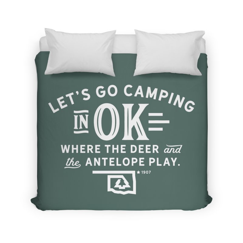 OK Camping Home Duvet by WalkingStick Design's Artist Shop
