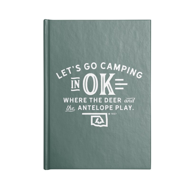 OK Camping Accessories Notebook by WalkingStick Design's Artist Shop