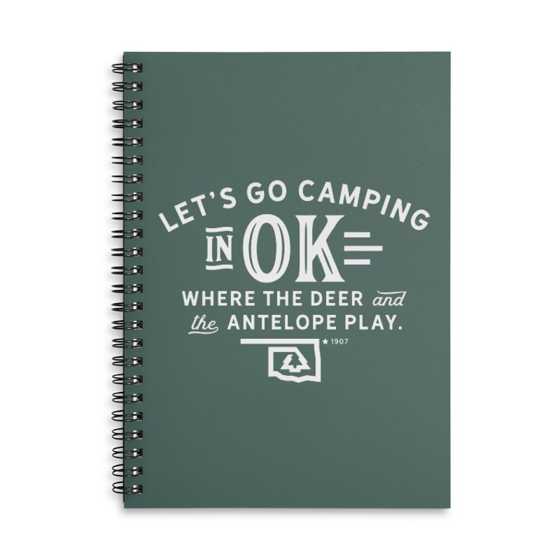 OK Camping Accessories Lined Spiral Notebook by WalkingStick Design's Artist Shop