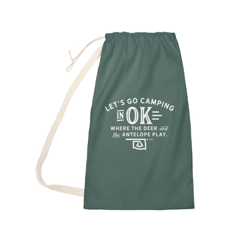 OK Camping Accessories Laundry Bag Bag by WalkingStick Design's Artist Shop