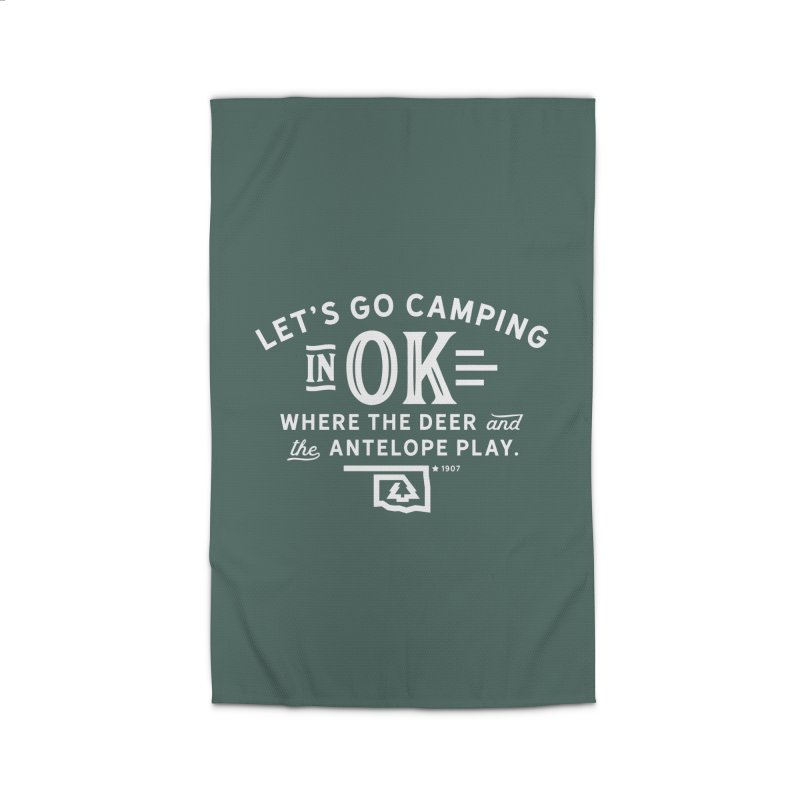 OK Camping Home Rug by WalkingStick Design's Artist Shop