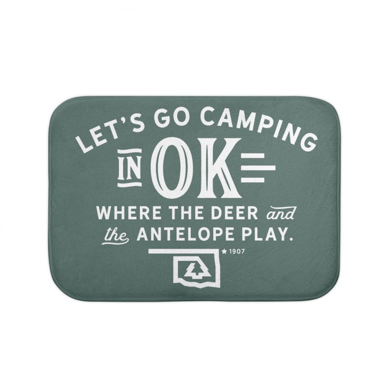 OK Camping Home Bath Mat by WalkingStick Design's Artist Shop