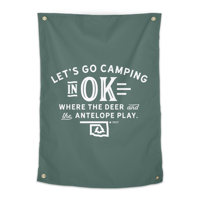 OK Camping Home Tapestry by walkingstickdesign's Artist Shop