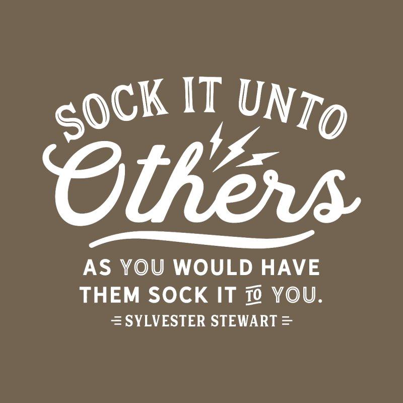 Sock It - White   by walkingstickdesign's Artist Shop