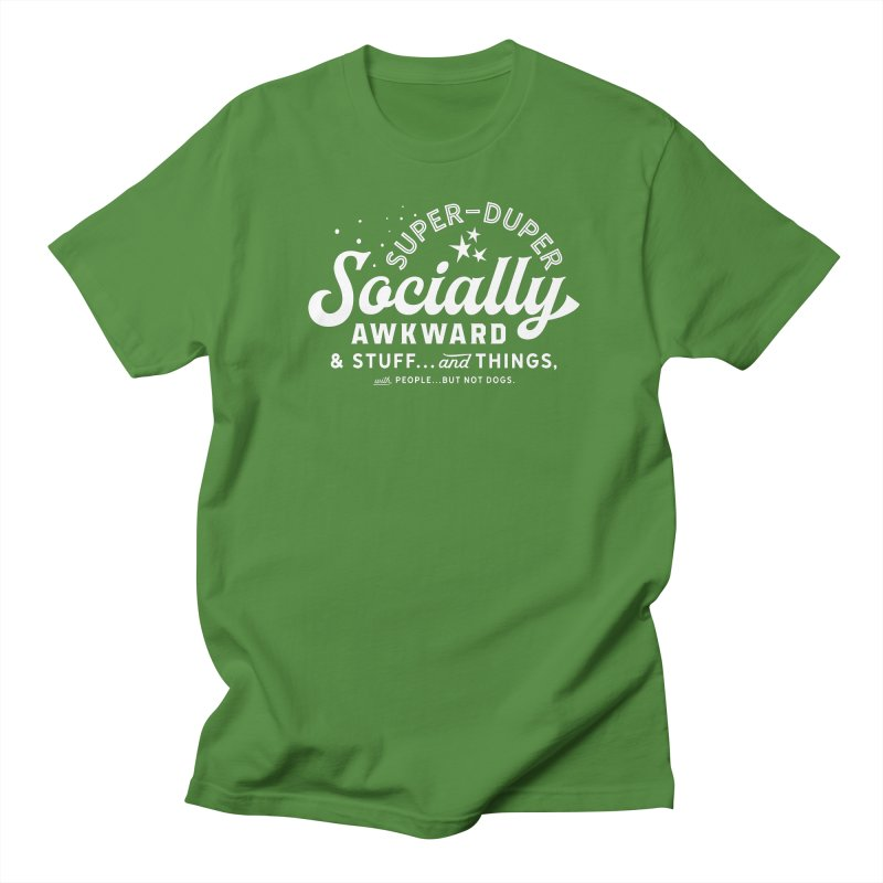 Socially Awkward - White Women's Unisex T-Shirt by walkingstickdesign's Artist Shop