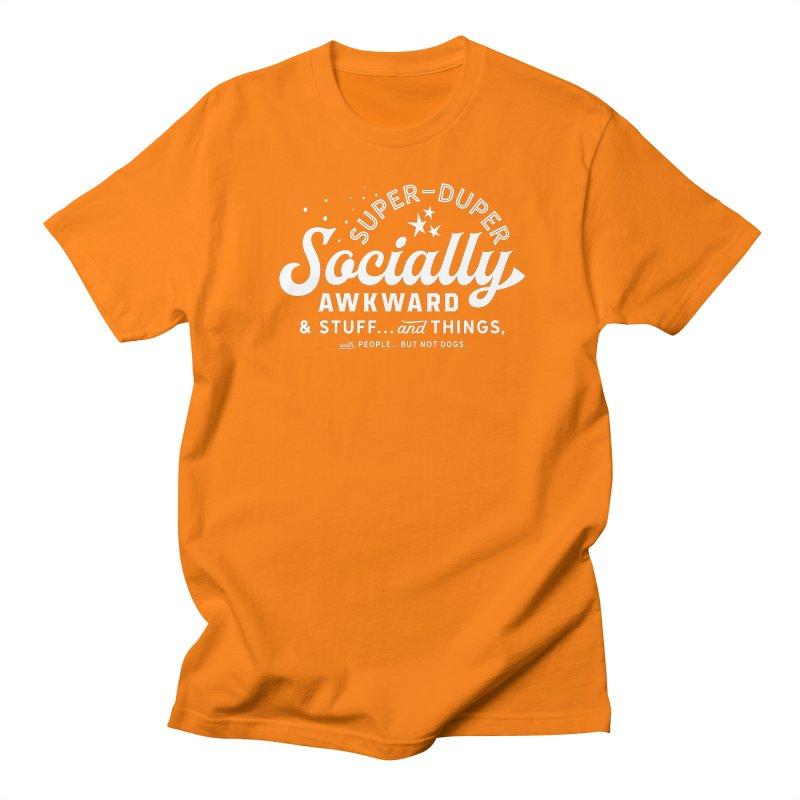 Socially Awkward - White Men's T-Shirt by walkingstickdesign's Artist Shop
