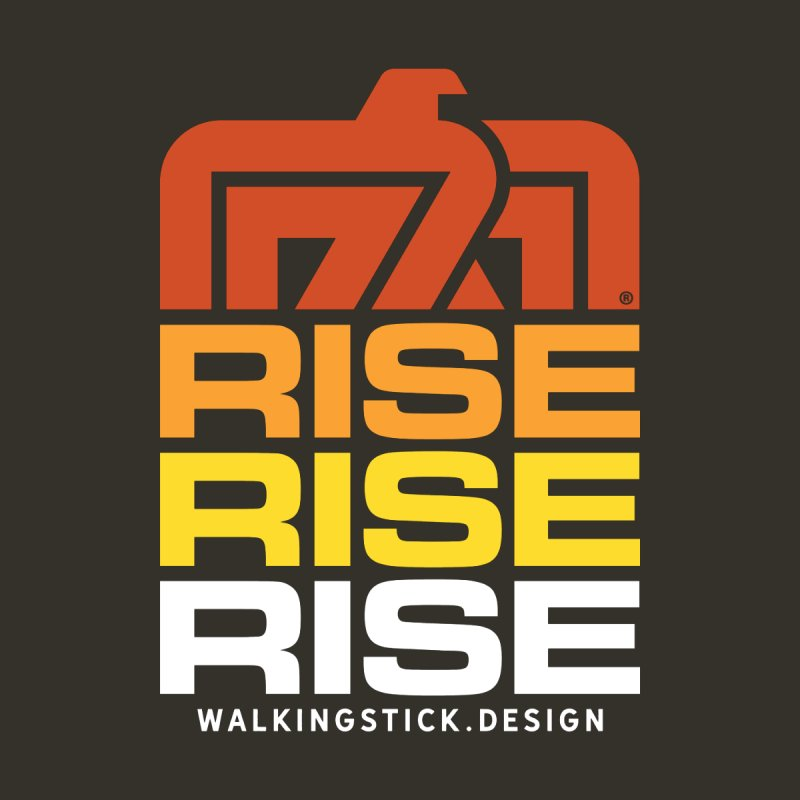 T-BIRD RISE UP + WALKINGSTICK DESIGN CO. Home Fine Art Print by WalkingStick Design's Artist Shop