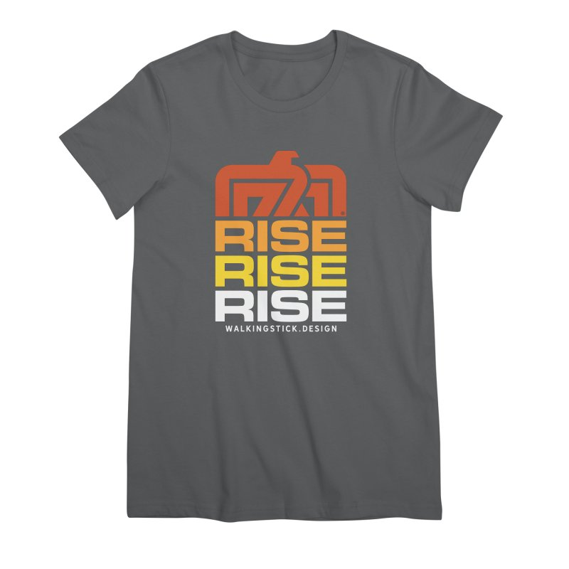 T-BIRD RISE UP + WALKINGSTICK DESIGN CO. Women's T-Shirt by WalkingStick Design's Artist Shop