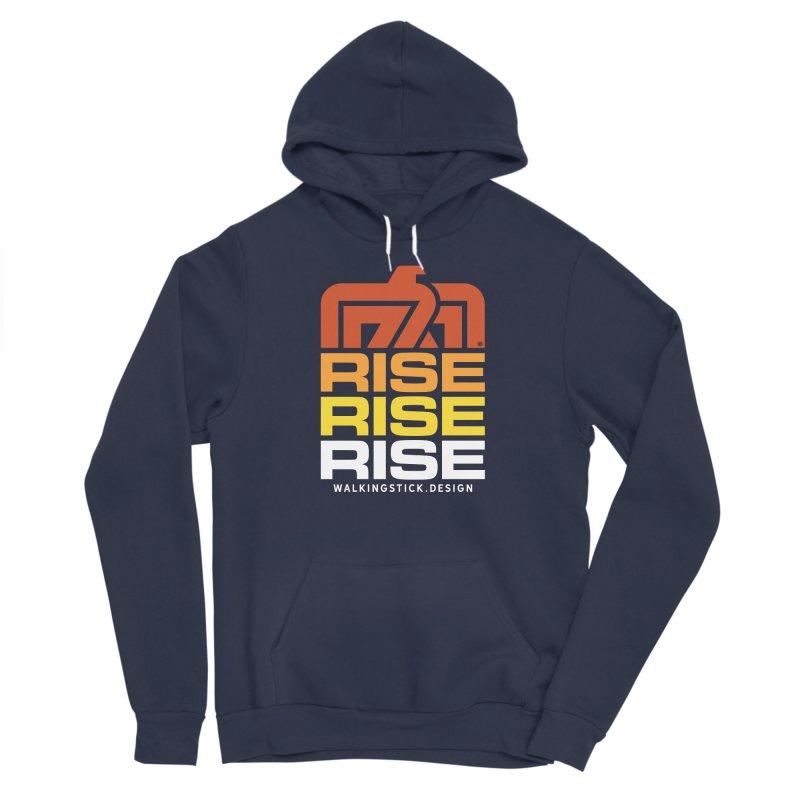 T-BIRD RISE UP + WALKINGSTICK DESIGN CO. Men's Pullover Hoody by WalkingStick Design's Artist Shop