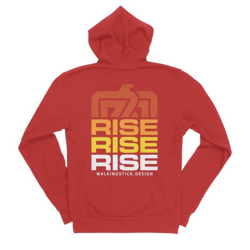 T-BIRD RISE UP + WALKINGSTICK DESIGN CO. Men's Zip-Up Hoody by WalkingStick Design's Artist Shop