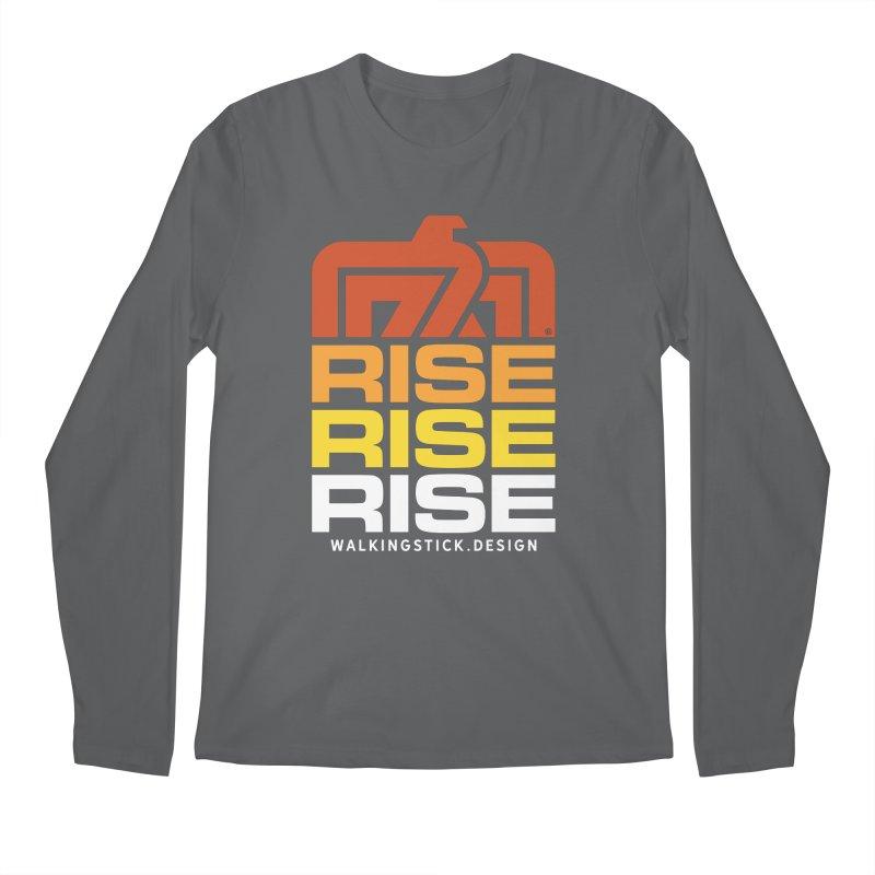 T-BIRD RISE UP + WALKINGSTICK DESIGN CO. Men's Longsleeve T-Shirt by WalkingStick Design's Artist Shop