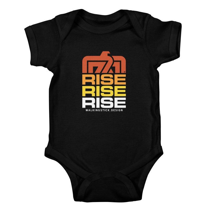 T-BIRD RISE UP + WALKINGSTICK DESIGN CO. Kids Baby Bodysuit by WalkingStick Design's Artist Shop