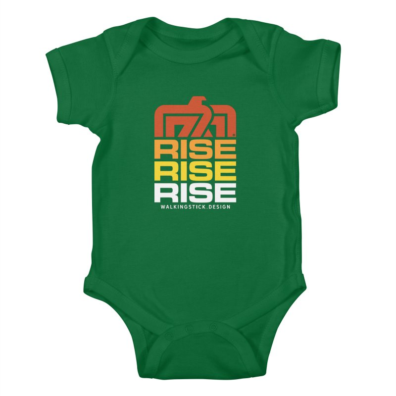 T-BIRD RISE UP + WALKINGSTICK DESIGN CO. Kids Baby Bodysuit by WalkingStick Design's Artist Shop