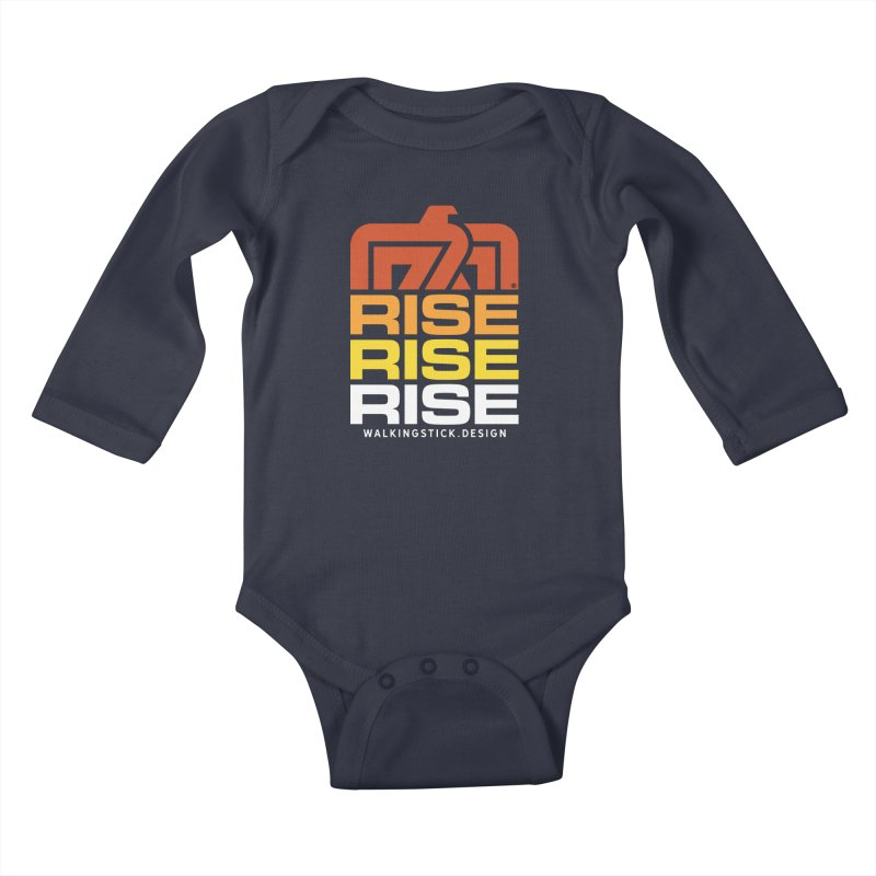 T-BIRD RISE UP + WALKINGSTICK DESIGN CO. Kids Baby Longsleeve Bodysuit by WalkingStick Design's Artist Shop