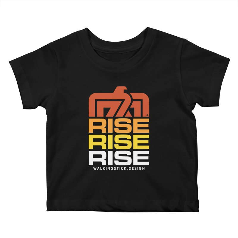 T-BIRD RISE UP + WALKINGSTICK DESIGN CO. Kids Baby T-Shirt by WalkingStick Design's Artist Shop